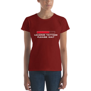 Loading tattoos (Red) Women's short sleeve t-shirt