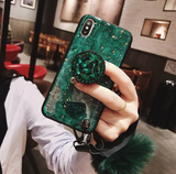 Luxury Glitter Case For iPhone With Pop Out Kickstand For iPhone Xs Max / Green - CpuWarehouse.net