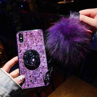 Luxury Glitter Case With Pop Out Kickstand For Samsung Galaxy S10 Models For S10 Plus / Purple - CpuWarehouse.net