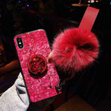 Luxury Glitter Case With Pop Out Kickstand For Samsung Galaxy S10 Models For S10 Plus / Red - CpuWarehouse.net
