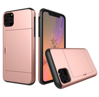 Glide Credit Card Armor Case for iPhone 11, iPhone 11 Pro, & iPhone 11 Pro Max For iPhone 11 / Rose Gold - CpuWarehouse.net