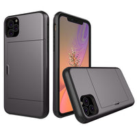 Glide Credit Card Armor Case for iPhone 11, iPhone 11 Pro, & iPhone 11 Pro Max For iPhone 11 Pro Max / Gray - CpuWarehouse.net