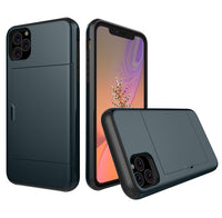 Glide Credit Card Armor Case for iPhone 11, iPhone 11 Pro, & iPhone 11 Pro Max For iPhone 11 / Navy Blue - CpuWarehouse.net