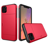 Glide Credit Card Armor Case for iPhone 11, iPhone 11 Pro, & iPhone 11 Pro Max For iPhone 11 Pro Max / Red - CpuWarehouse.net