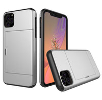 Glide Credit Card Armor Case for iPhone 11, iPhone 11 Pro, & iPhone 11 Pro Max For iPhone 11 Pro Max / Silver - CpuWarehouse.net