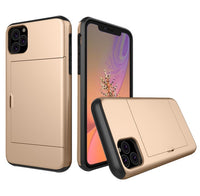 Glide Credit Card Armor Case for iPhone 11, iPhone 11 Pro, & iPhone 11 Pro Max For iPhone 11 Pro / Gold - CpuWarehouse.net