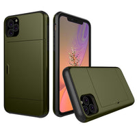Glide Credit Card Armor Case for iPhone 11, iPhone 11 Pro, & iPhone 11 Pro Max For iPhone 11 / Army Green - CpuWarehouse.net