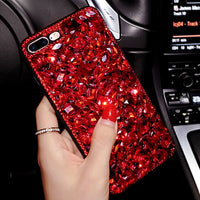 Luxury 3D Red Diamond Rhinestone iPhone Cover Case - CpuWarehouse.net