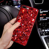 Luxury 3D Red Diamond Rhinestone iPhone Cover Case for iPhone 6S - CpuWarehouse.net