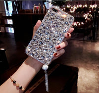 Luxury 3D Diamond Rhinestone iPhone Cover Case For iPhone 5S SE / Silver - CpuWarehouse.net