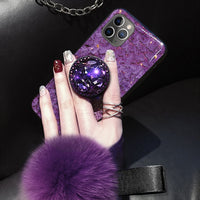 Luxury Glitter Case For iPhone With Pop Out Kickstand For iPhone 7 / Purple - CpuWarehouse.net