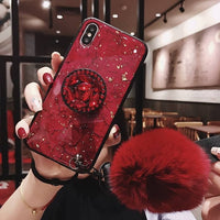 Luxury Glitter Case For iPhone With Pop Out Kickstand For iPhone 6s Plus / Red - CpuWarehouse.net