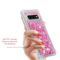 Samsung Galaxy S10e S10 Plus Glitter Liquid Transparent Soft Silicone TPU Case Cover - CpuWarehouse.net Cell Phone Cases