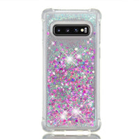 Samsung Galaxy S10e S10 Plus Glitter Liquid Transparent Soft Silicone TPU Case Cover Pink & Silver / Galaxy S10E - CpuWarehouse.net