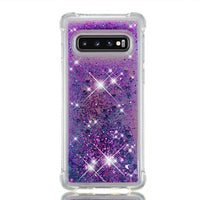 Samsung Galaxy S10e S10 Plus Glitter Liquid Transparent Soft Silicone TPU Case Cover Purple / Galaxy S10 Plus - CpuWarehouse.net