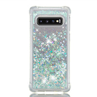 Samsung Galaxy S10e S10 Plus Glitter Liquid Transparent Soft Silicone TPU Case Cover Blue & Silver / Galaxy S10 - CpuWarehouse.net