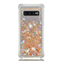 Samsung Galaxy S10e S10 Plus Glitter Liquid Transparent Soft Silicone TPU Case Cover Gold / Galaxy S10E - CpuWarehouse.net