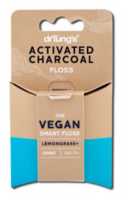 DrTungs activated charcoal Floss with Lemongrass