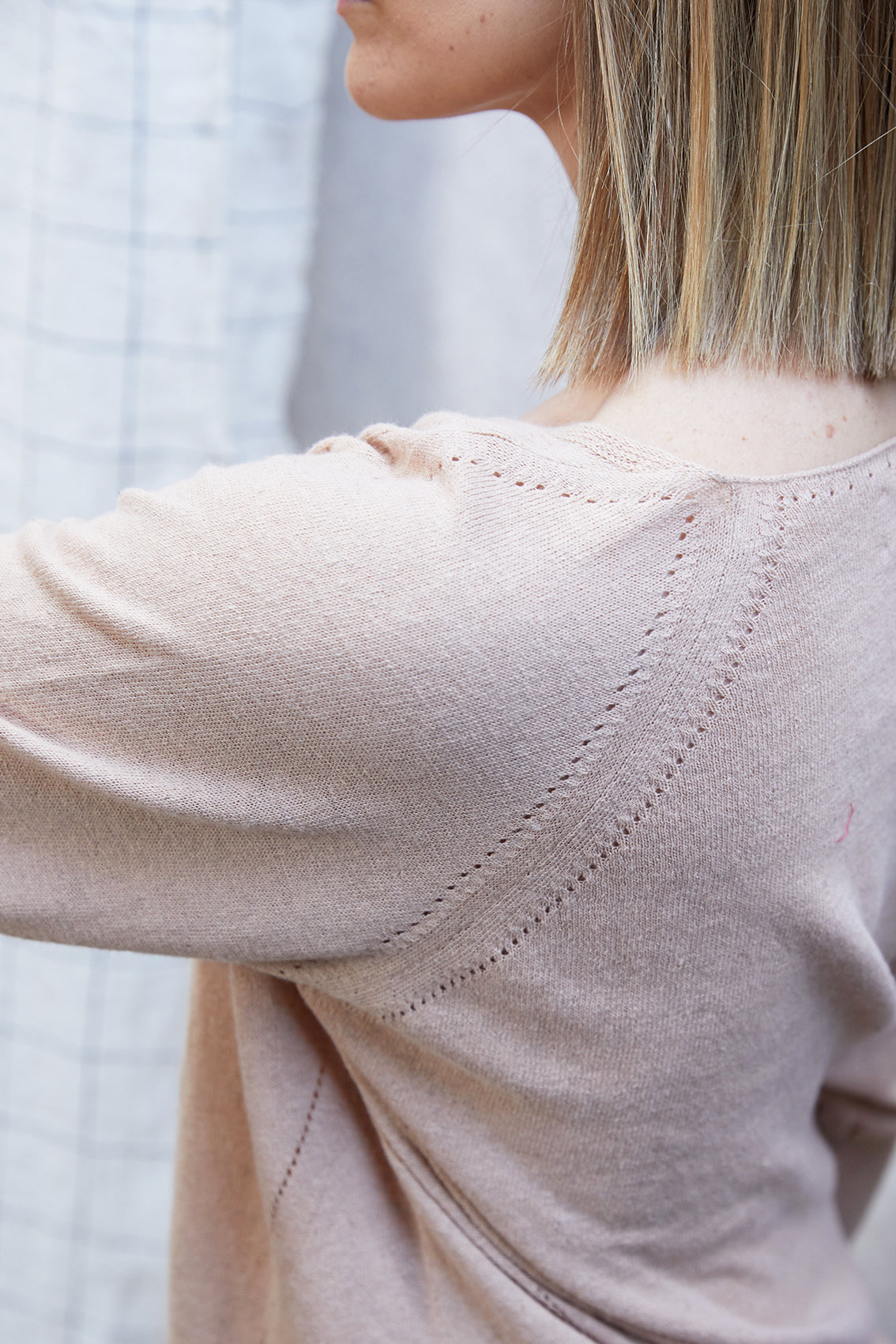 V Knit Light Sweater - Rosa