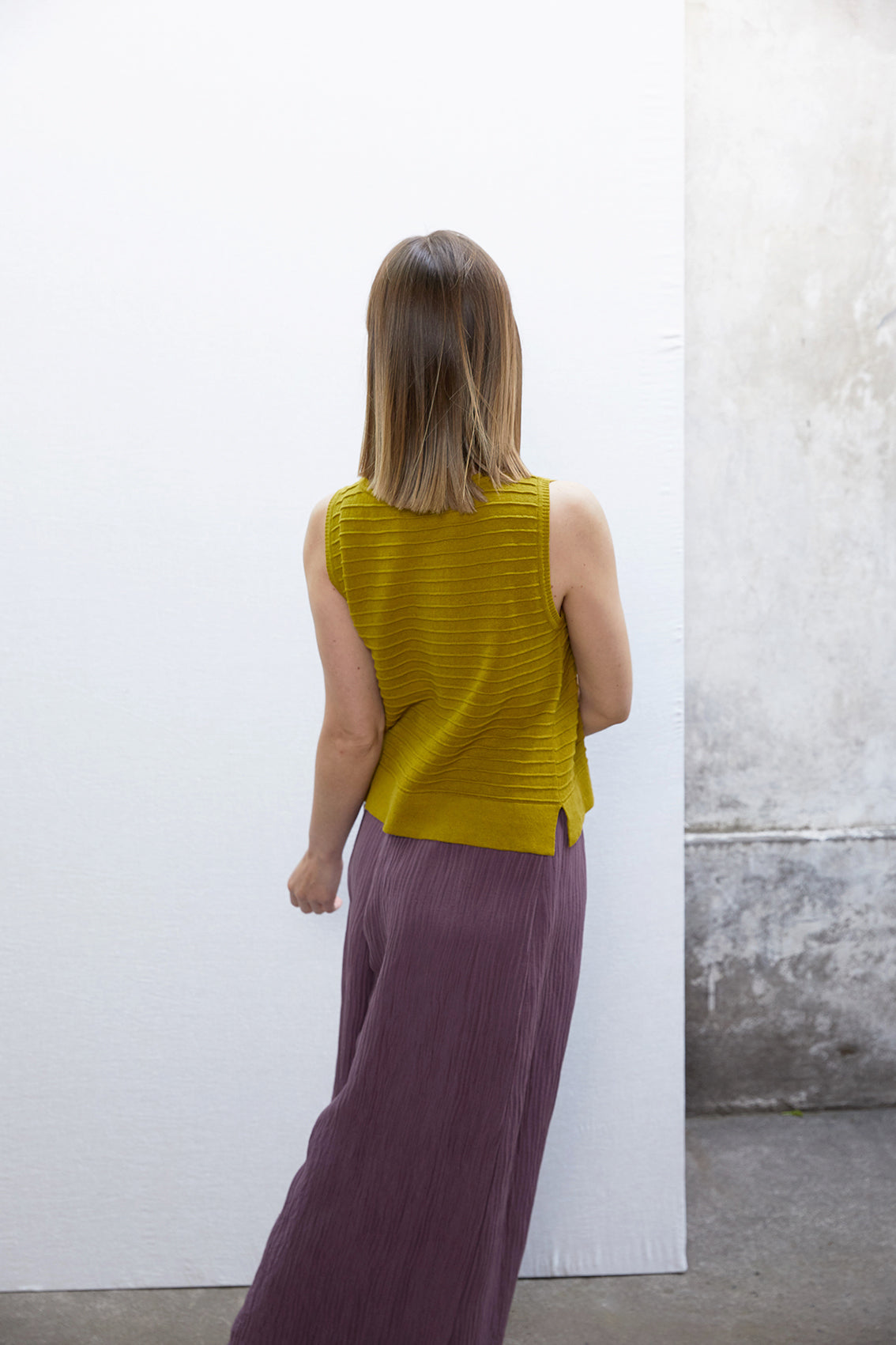 Horizontal Knit Top - Amarillo