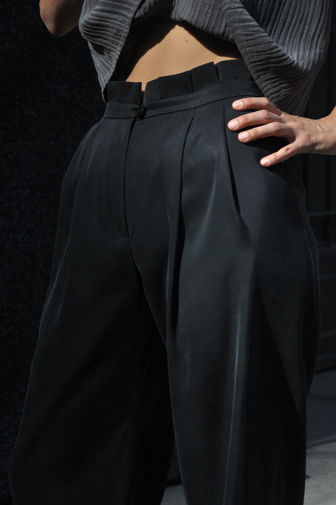 Tableado Pant Cupro – Black