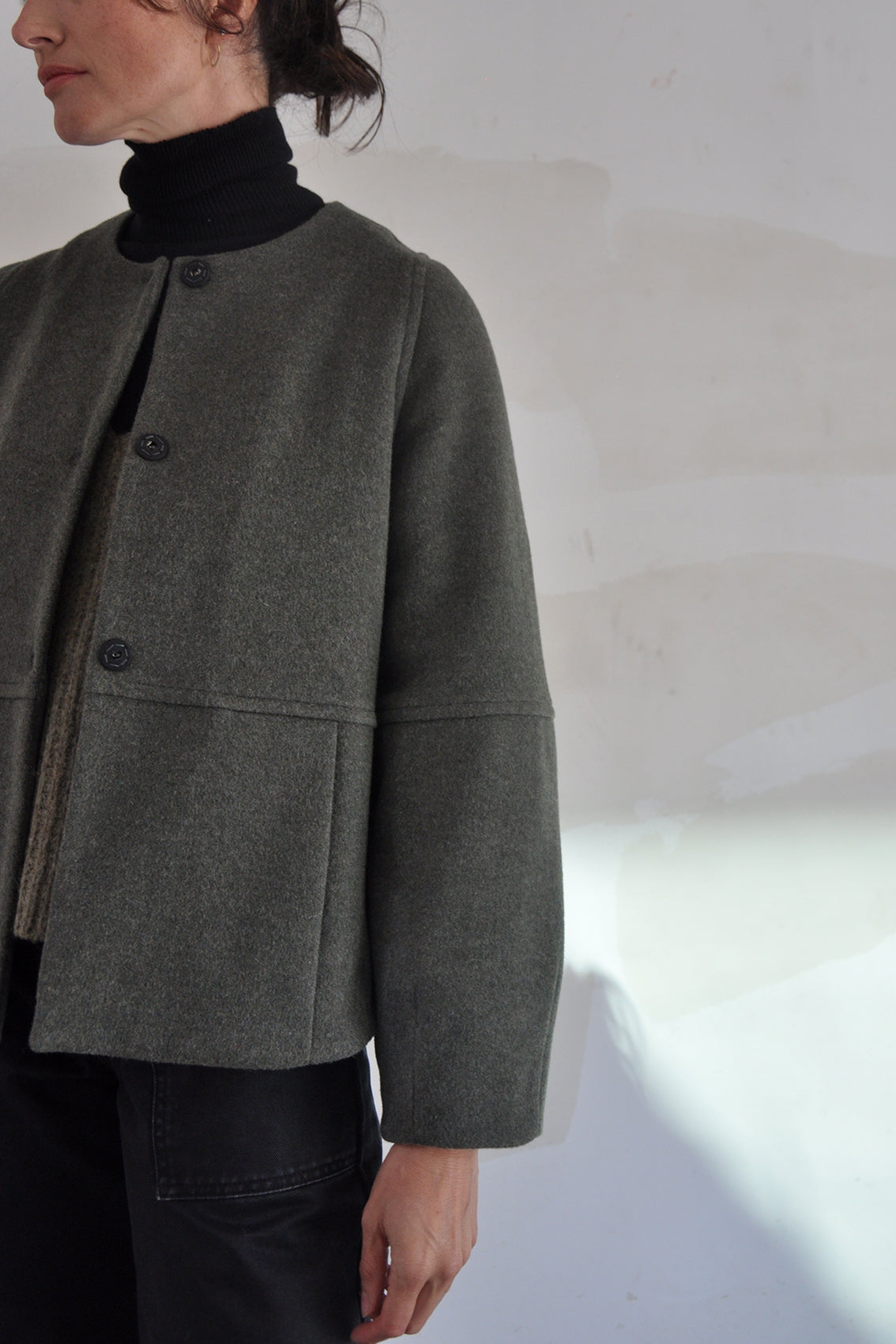 Rounded Wool Jacket – Musgo