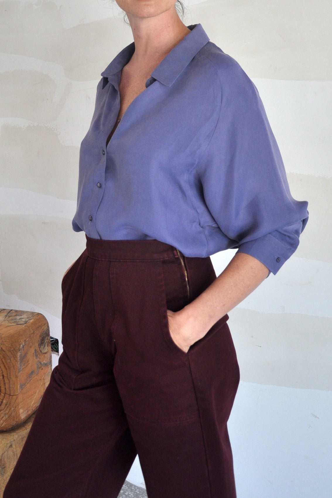 Conical Raglan Blouse – Arándano