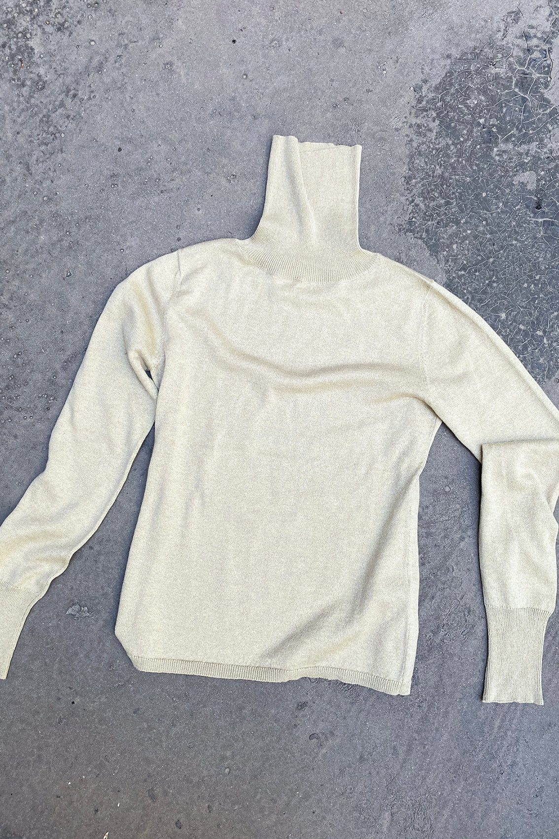PREORDER: Turtleneck Sweater Cotton-Alpaca – Lichen
