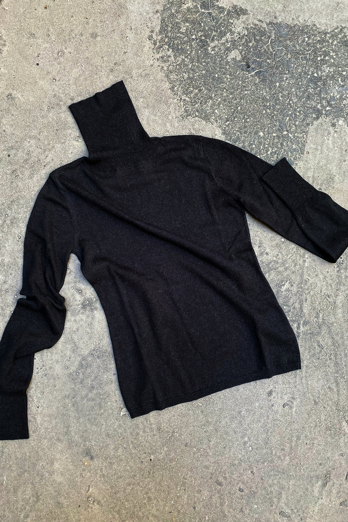 PREORDER: Turtleneck Sweater Cotton-Alpaca – Black