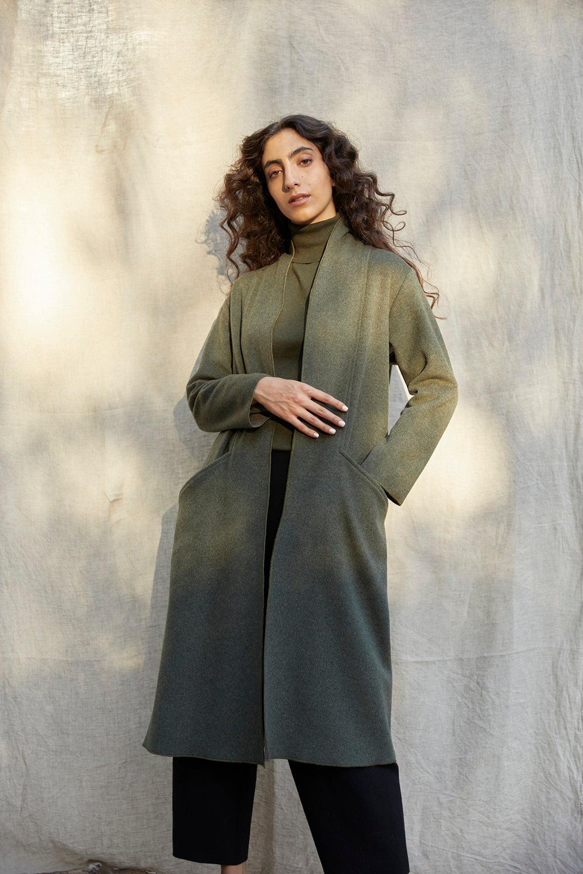 Recycled Wool Long Coat – Bosque
