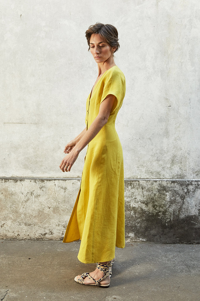 Abotonado Dress - Citrine