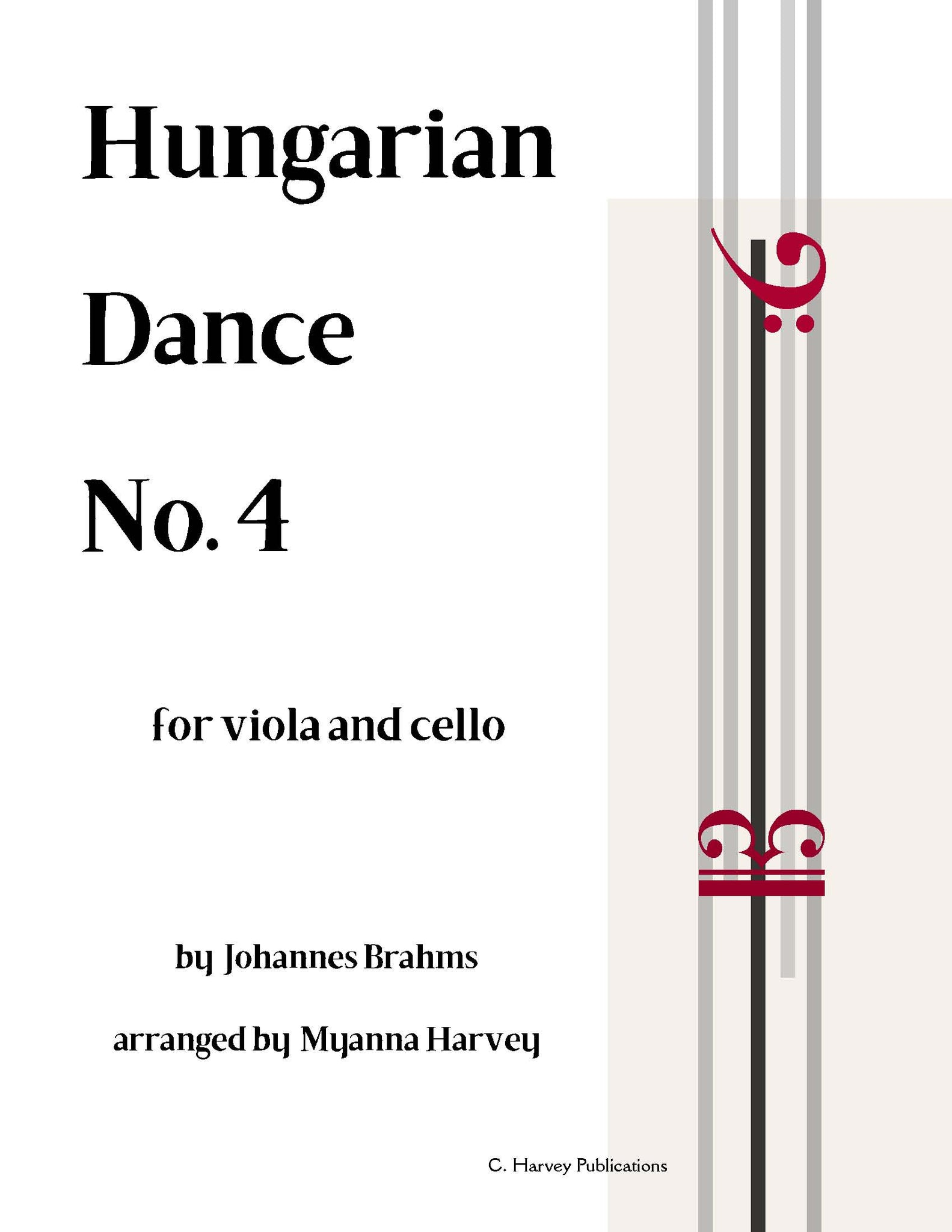 Hungarian Dance No. 4, by Johannes Brahms, for String Duo - PDF Download