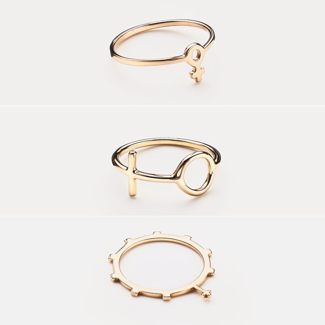 Trus pinky rings, femme collection