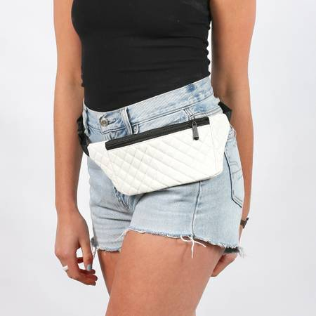 Quilted Fanny Pack |  White