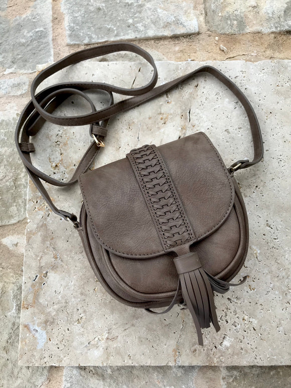 Round Braided Crossbody | Mocha