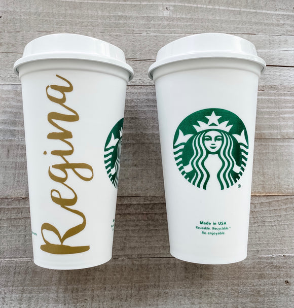 Starbucks Reusable Hot Cup | Name Decal
