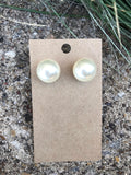 So Extra Pearl Stud Earrings | Beige