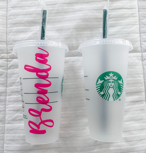 Starbucks Reusable Cold Cup | Name Decal