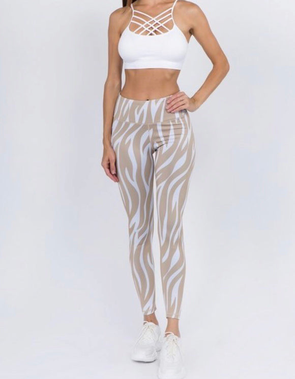 Tiger Stripe Workout Leggings