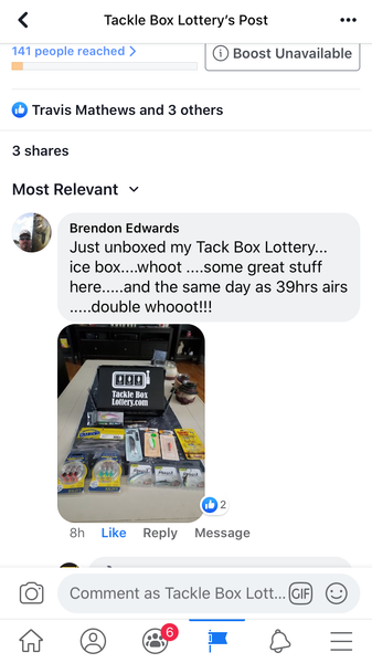 Tackle Box Lottery loves to hear from you!