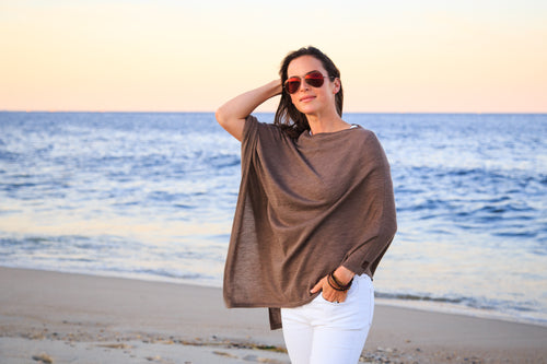 the summer weight poncho [rye] *seasonal*