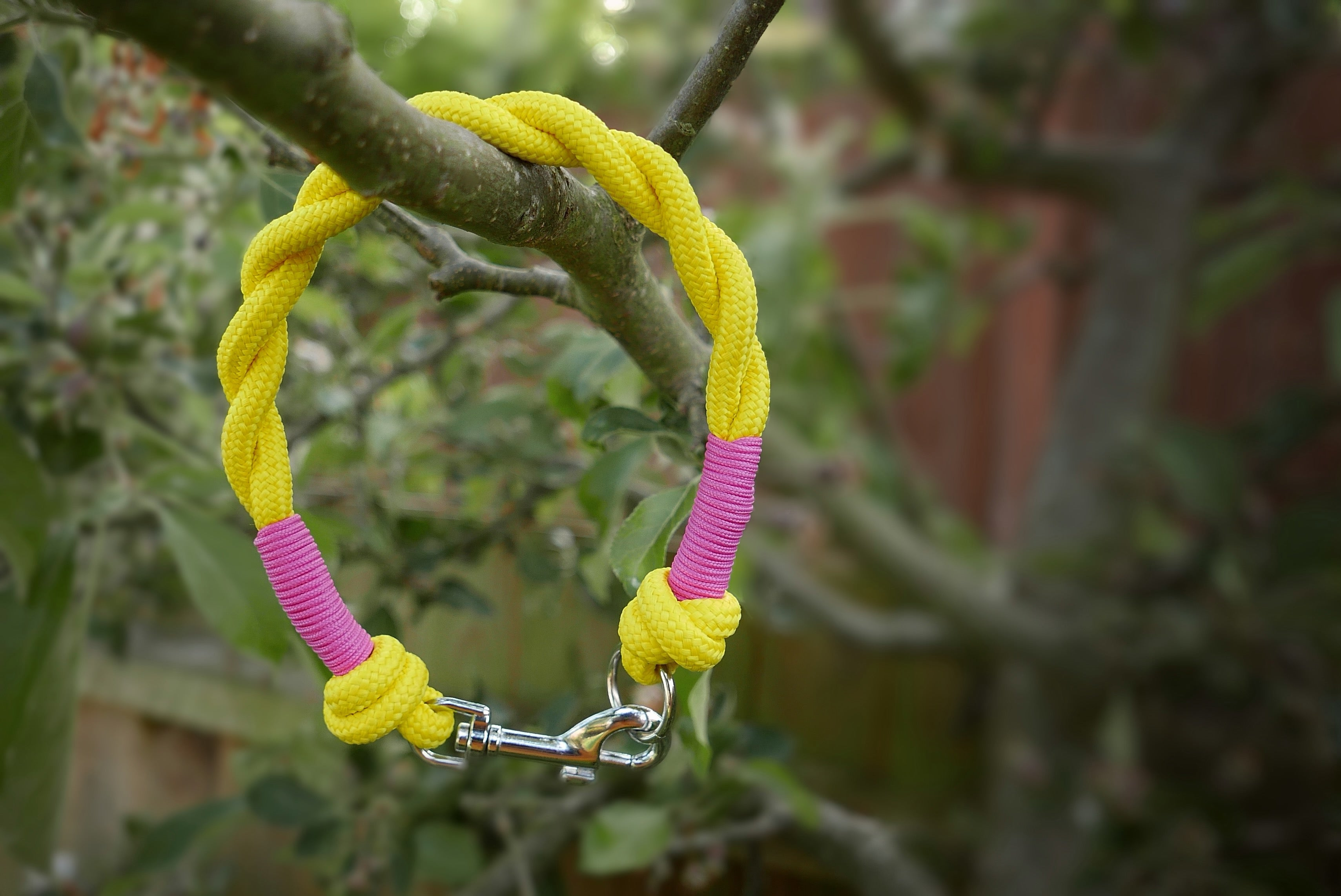 NEW - Customisable Yellow Clip & Knot Twist Collar