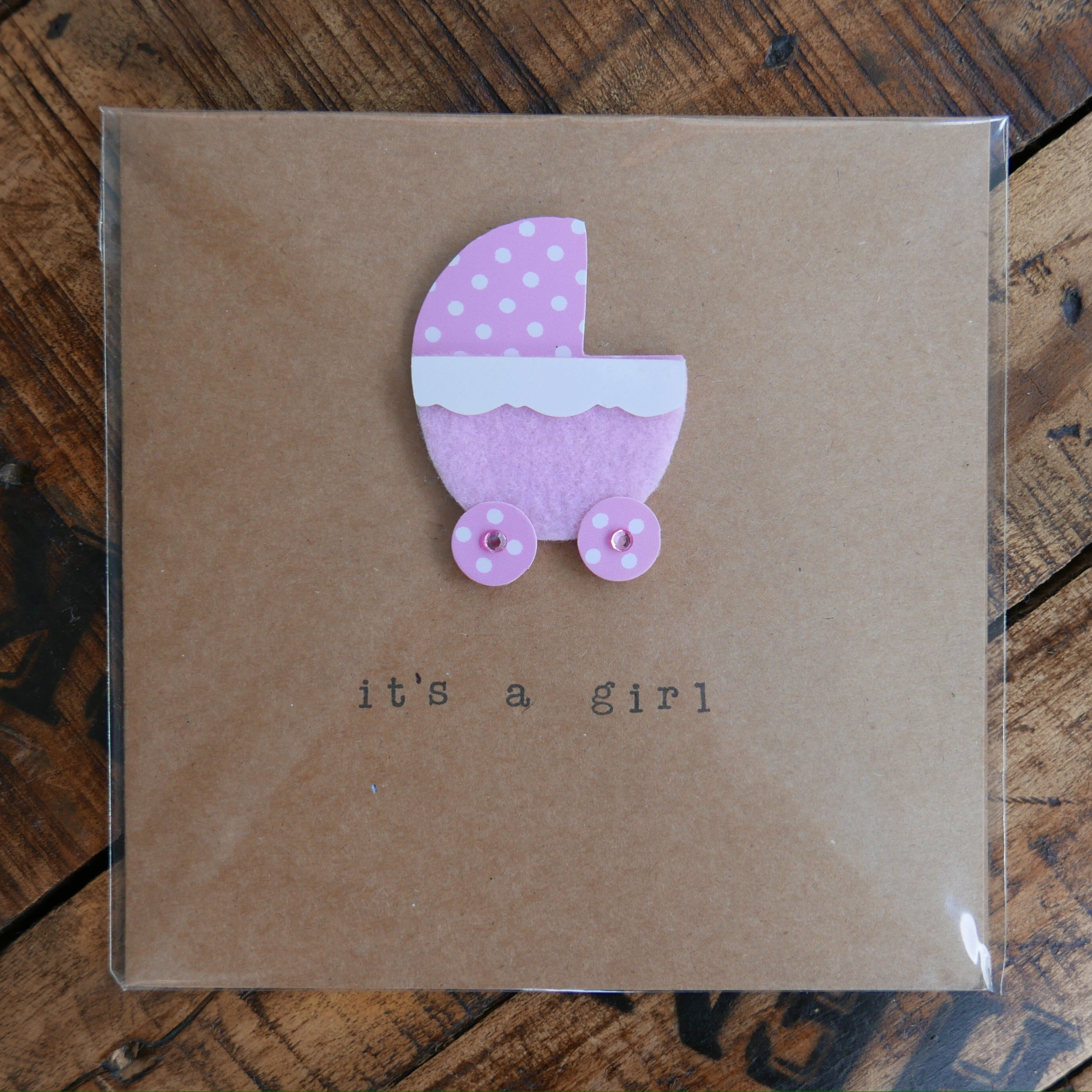 It's a Girl - Greeting Card