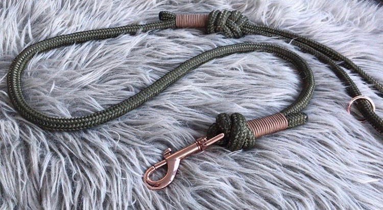 10mm Khaki Customised Clip Lead