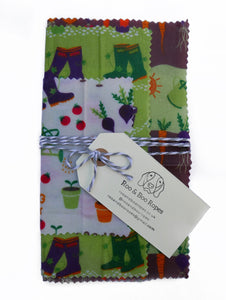 Beeswax food wraps - Set of 3 : Gardening