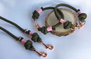 Khaki Clip and Knot Collar
