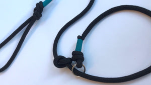 Knotted Slip Lead - 8mm Black