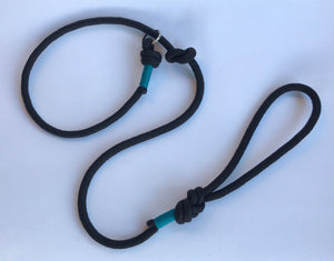 Knotted Slip Lead - 10mm Grey