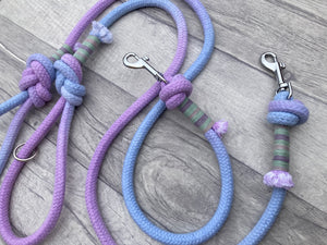 Hand dyed 10mm cotton rope clip lead