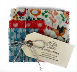 Beeswax food wraps - Set of 3 : Chickens